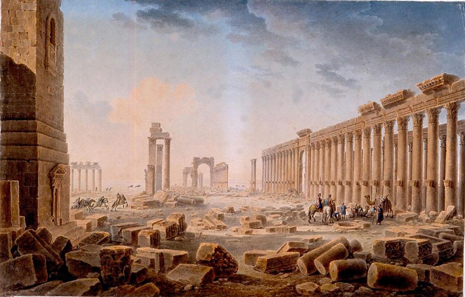 L.-F. Cassas, Les ruines de Palmyre, 1821